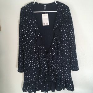 Tops - NWT Navy Star pattern kimono